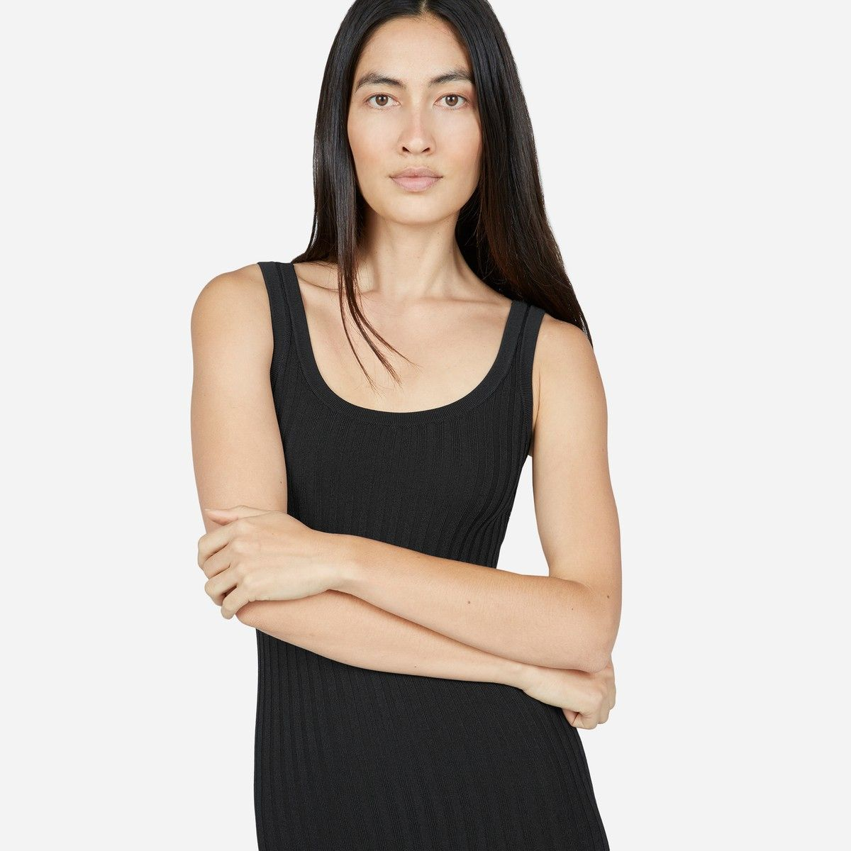 Everlane the e2 ribbed tank dress with images ribbed