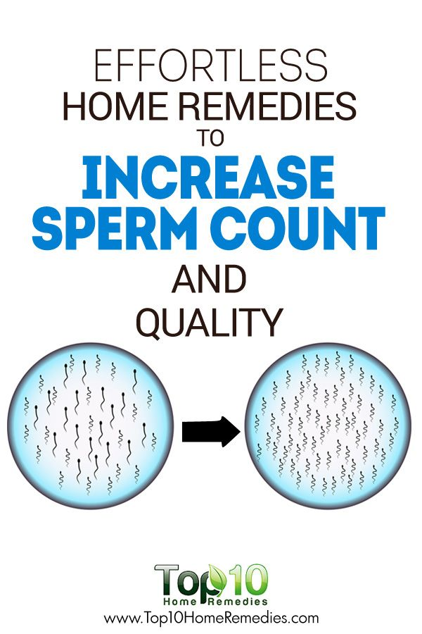 You tell increase quality sperm consider, that
