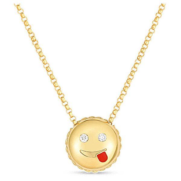 Roberto coin yellow gold joke emoji diamond pendant necklace 900 roberto coin yellow gold joke emoji diamond pendant necklace 900 liked on polyvore featuring jewelry necklaces gold diamond pendant 18k gol aloadofball Choice Image