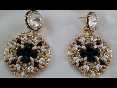 Tutorial orecchini golden moonlight.Tutorial golden moonlight earrings