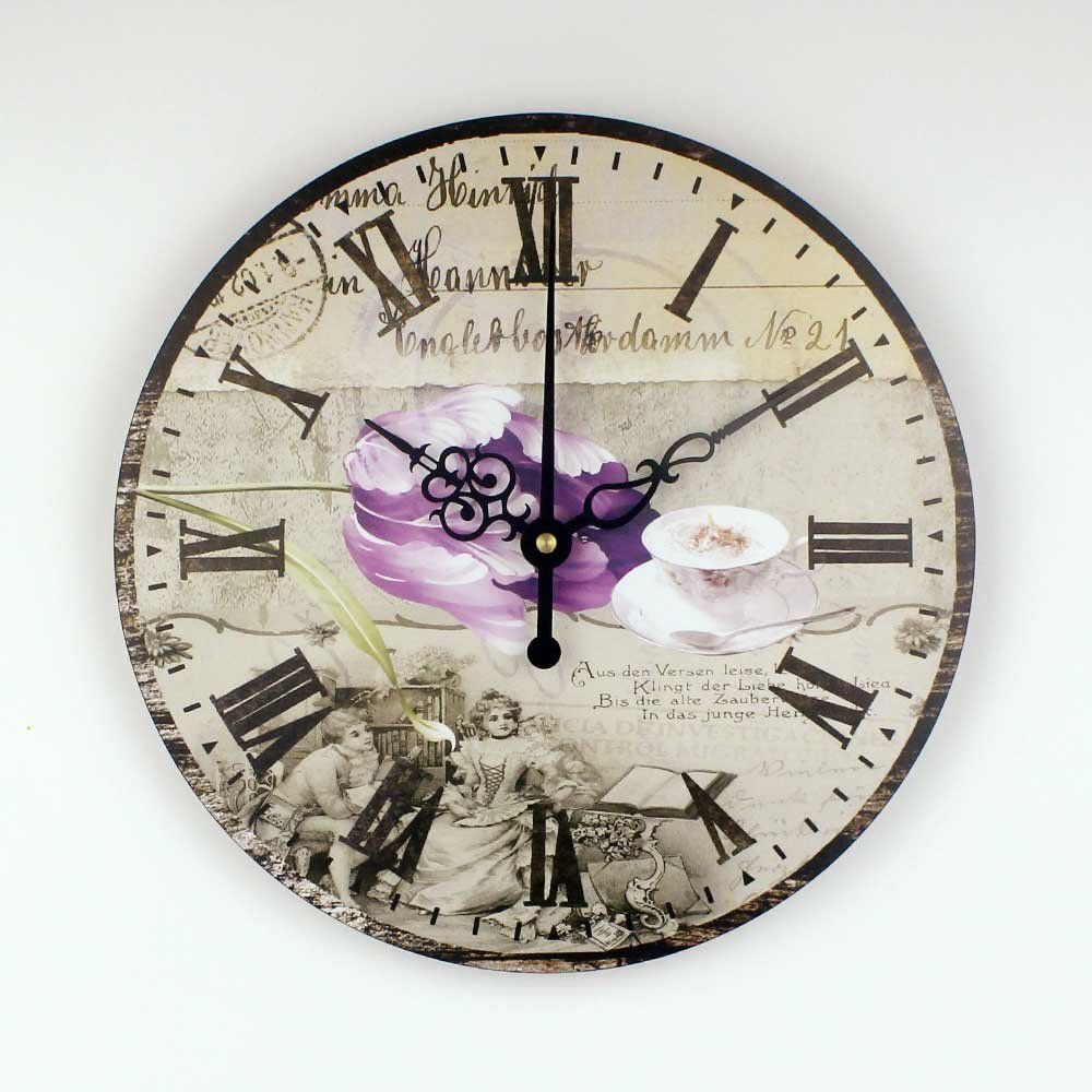 brand pastoral style dining room decoration wall clock with coffee