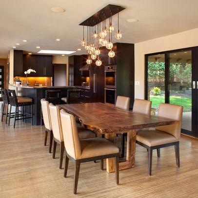 Table salle à manger tronc tranché bois brut Table Pinterest