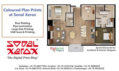 Sonal Xerox Digital Print Services Coloured Plan Prints At