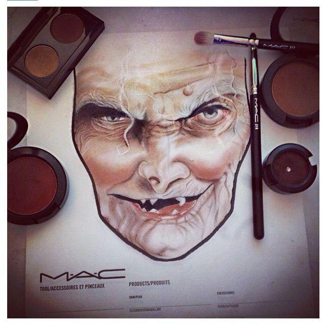 MAC Halloween Face Chart