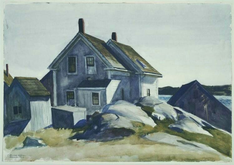 House At The Fort, Gloucester,  1924, by Edward Hopper