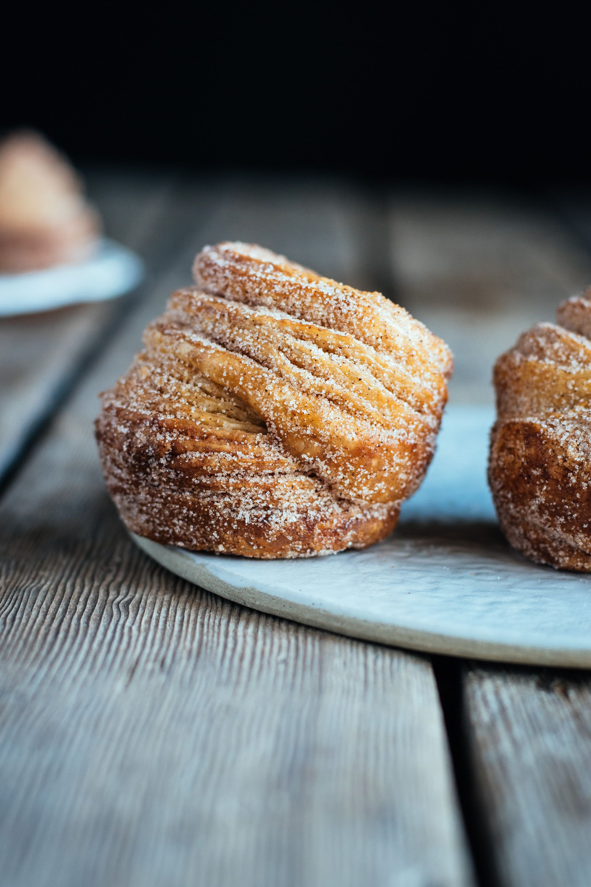 halfway homemade cinnamon sugar cruffins (made with puff pastry) — the farmer's daughter | let's bake something