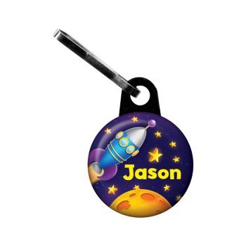 Space Personalized Mini Zipper Pull - Zipper Pull & other Personalized Party Supplies from Birthday in a Box