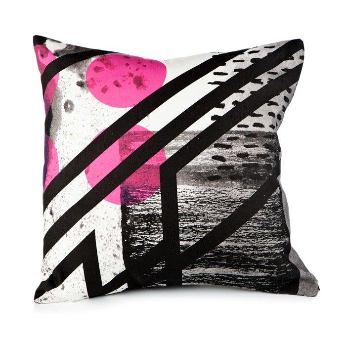Pink Graphic Print Cushion (60cm) by Constructive Studio via culture label
