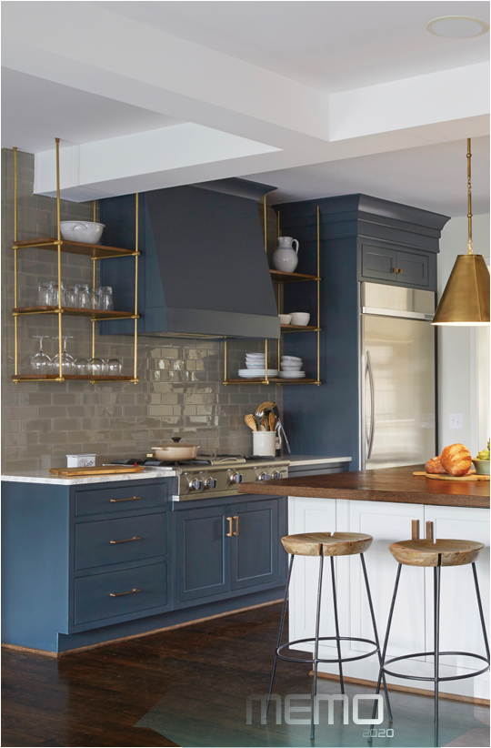 Nov 5 2015 Home Trends Have Moved Towards A More Open Kitchen And Away From Traditional Upper Kitchen Cabinets Kitchen Cabinet Trends Blue Kitchen Designs