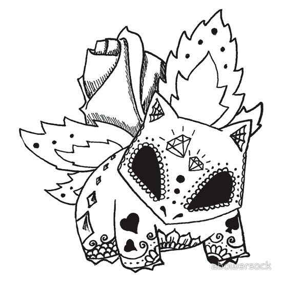 Ivysaur de los Muertos Pokemon \ Day of The Dead Mashup Pokémon - fresh coloring pictures of pokemon legendaries