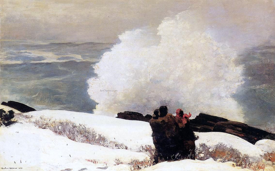 Fine Art Print Winslow Homer Watercolor Reproductions Watching the Tempest
