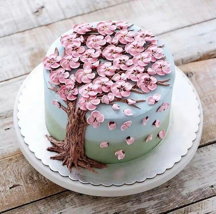 Pastel de árbol de cerezo