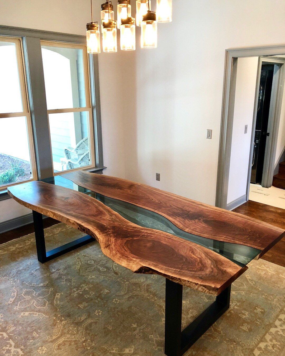 Custom Walnut River Dining Tables Etsy Custom Wood Furniture