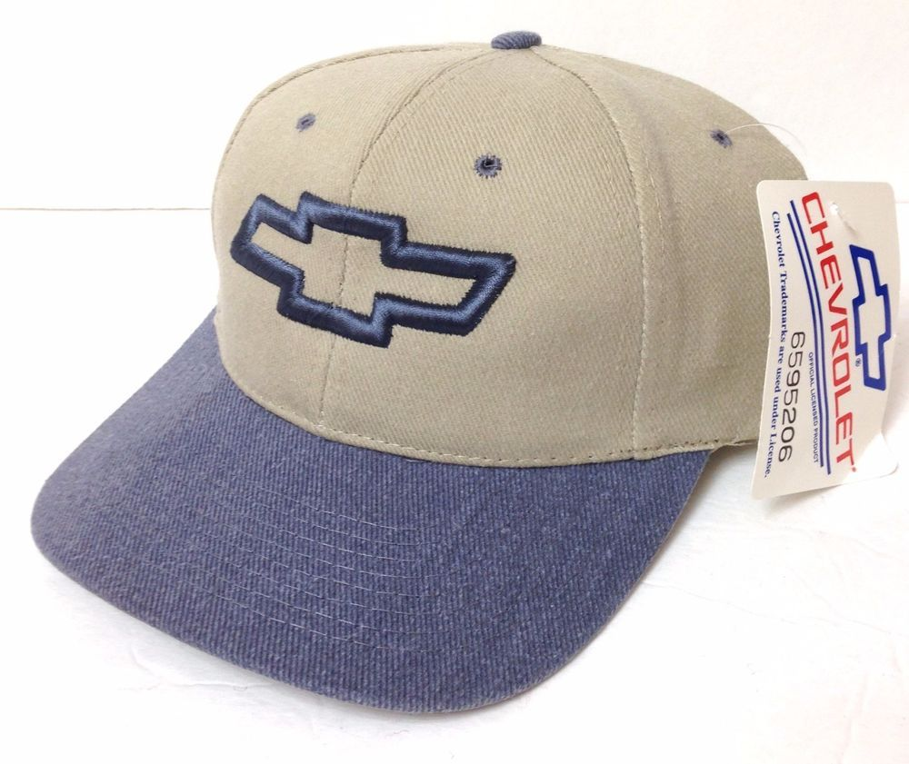 e01110d9830 NEW vtg 90s CHEVROLET LOGO HAT Chevy Khaki (  blue-ish-gray) Men Women  Snapback  Chevrolet  BaseballCap