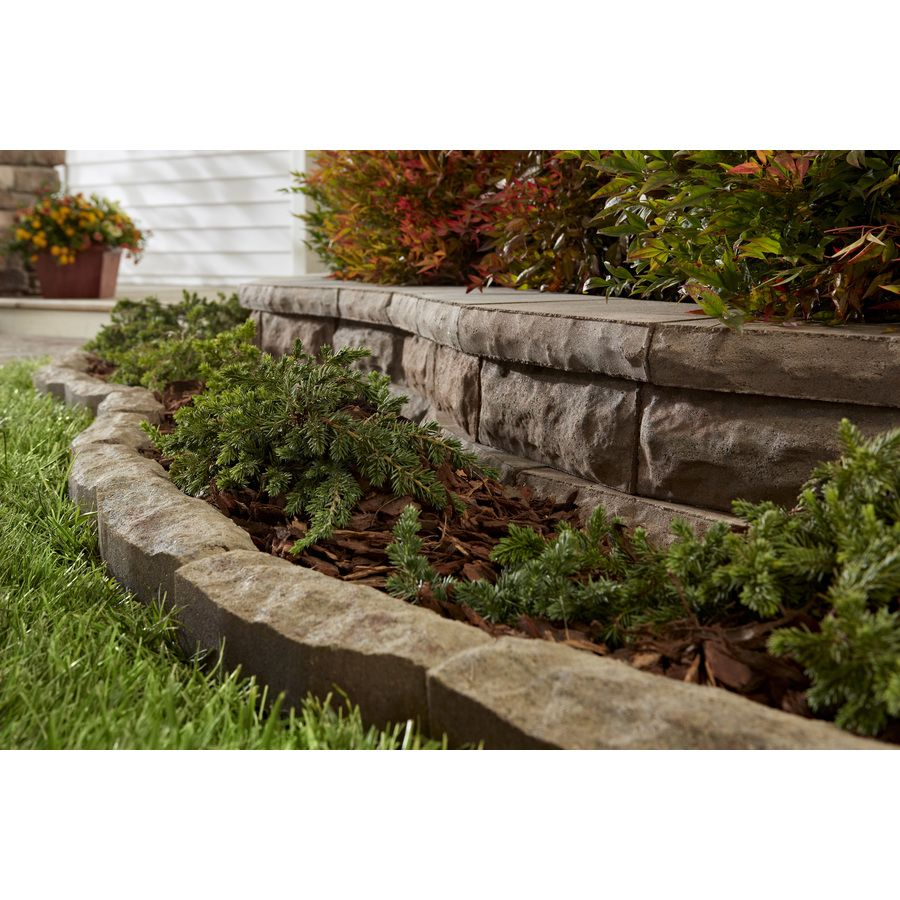 Shop Tranquil Chiselwall Concrete Retaining Wall Block Common 12
