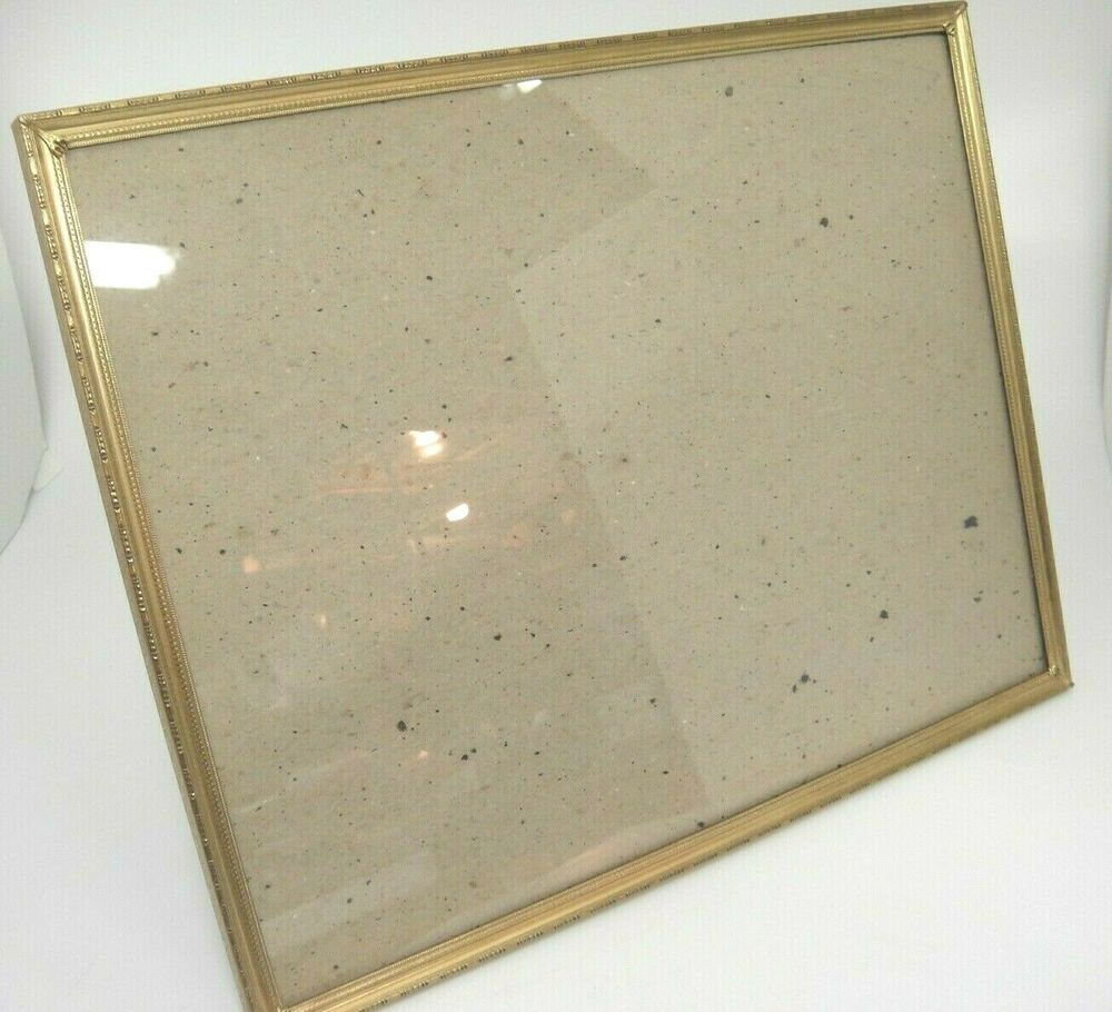 Details About Vintage Gold Embossed Metal Frame With Glass Overton Original Easel Back 11x14 In 2020 Metal Frame Vintage Gold Mid Century Decor