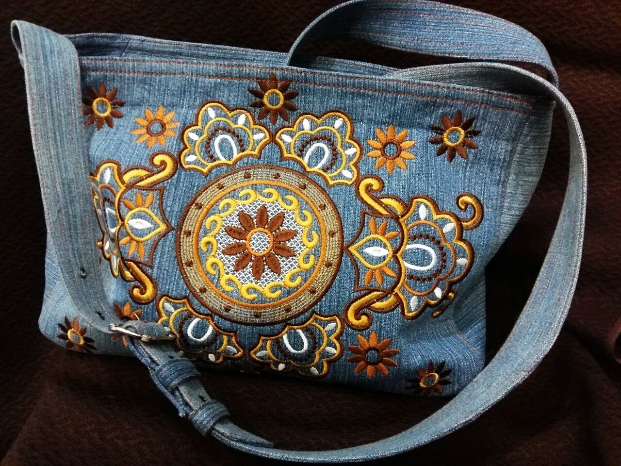 Embroidered Bag With Free Designs Project With Free Embroidery