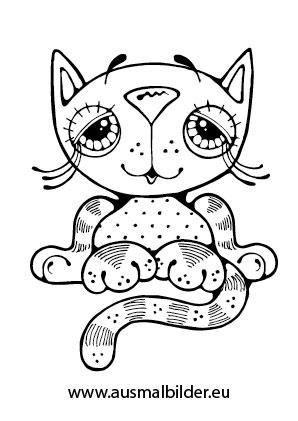 Ausmalbild Vertraumtes Katzchen Zum Ausmalen Ausmalbilder Malvorlagen Katze Ausmalbilder In 2020 Ausmalbilder Katzen Katze Zum Ausmalen Ausmalbilder Tiere