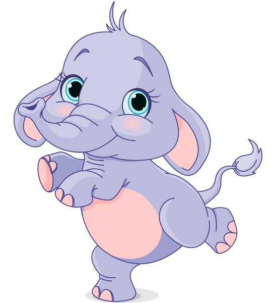 Dancing Babies Cute: Elefant Clipart, Kinder
