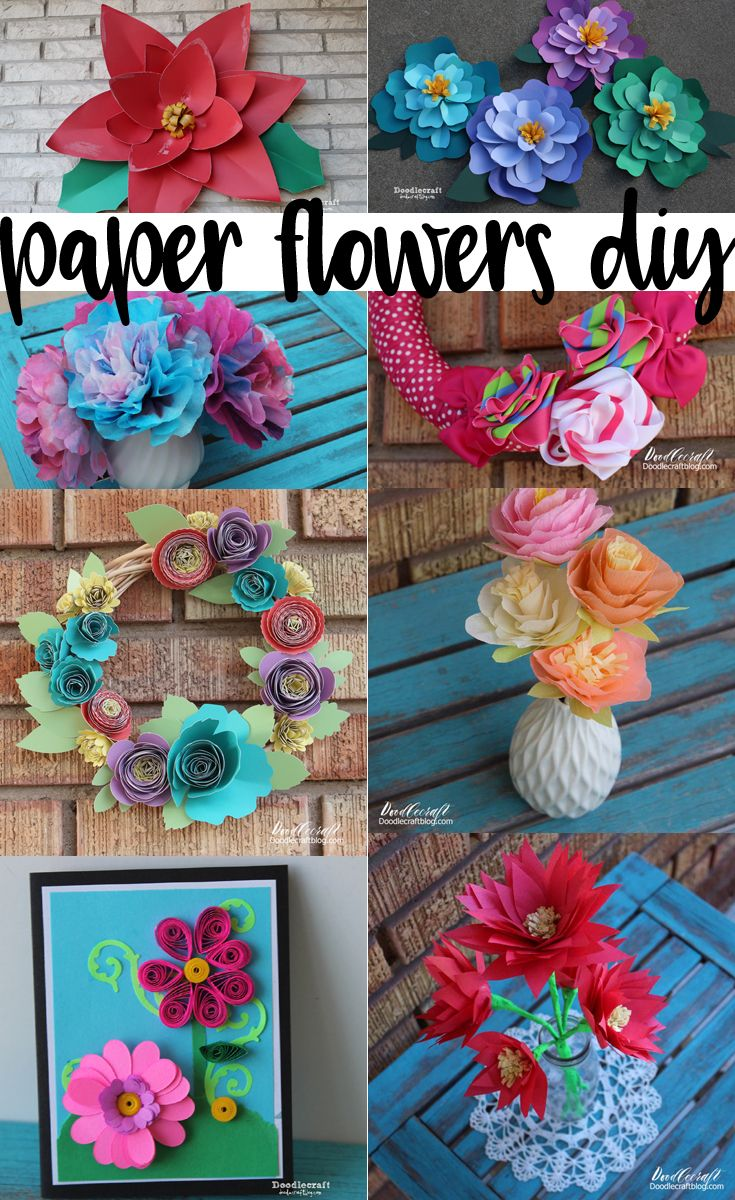 Paper Flowers DIY RoundUp Paper flowers are a fun alternative to