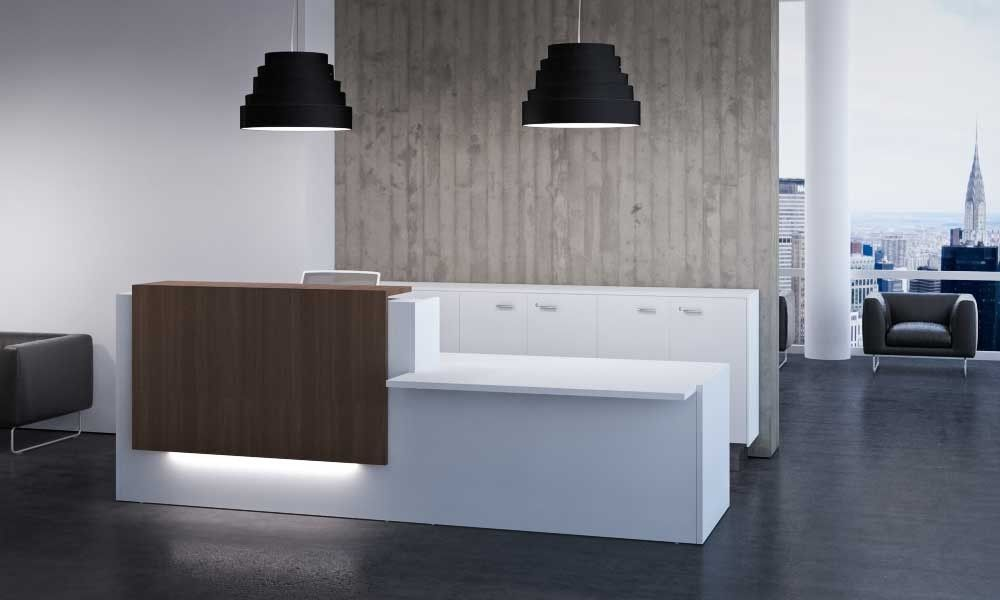 Modern Office Furniture For Contemporary Creative Office Space Modern Reception Desk Reception Desk Design Reception Desk Office Furniture