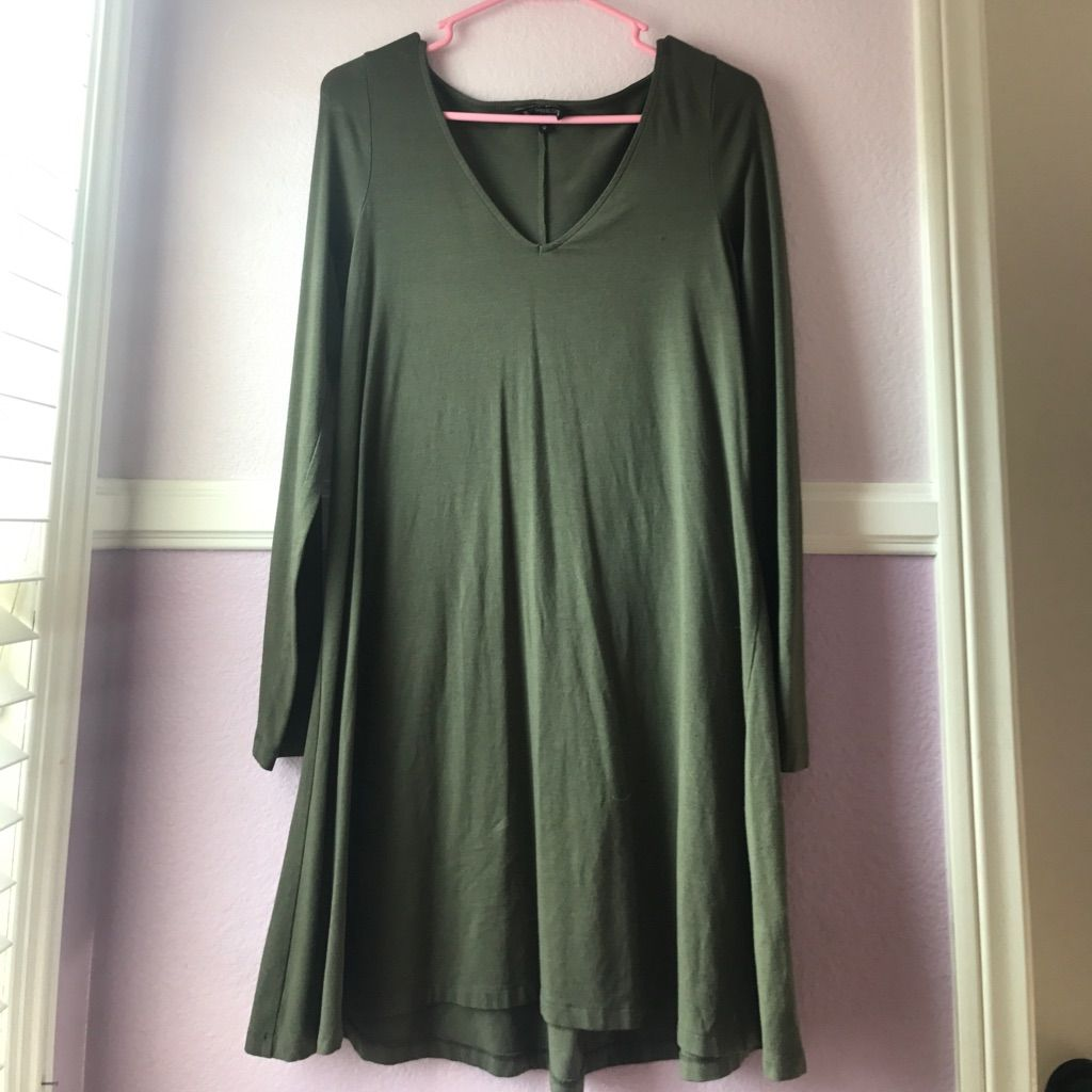 Green long sleeve cocktail dress  Olive Green Long Sleeve Dress  Green long sleeve dress and Products
