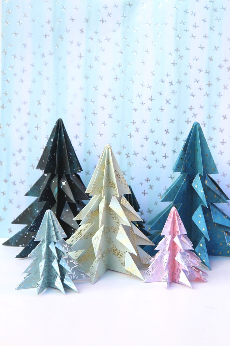 Easy Origami Christmas Trees Gathering Beauty Christmas Origami Origami Christmas Tree Origami Easy