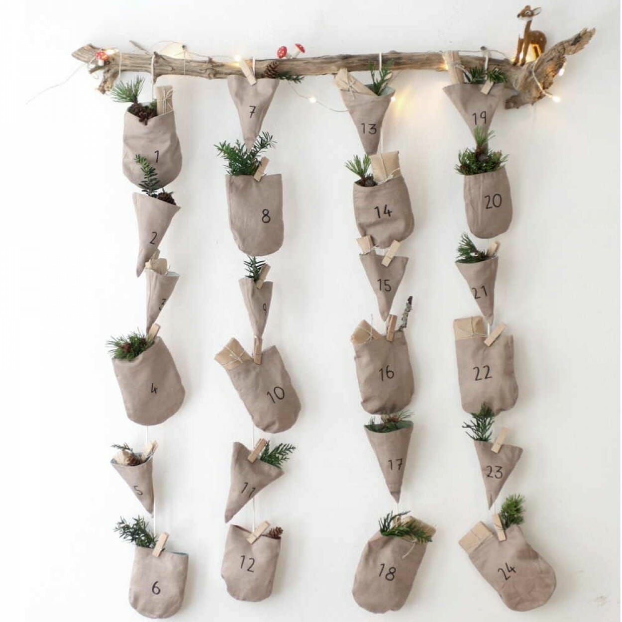 By Fabelab Once Completed You Can Turn Them Inside Out To Be Little Adorable Hand Puppets Christmas Calendar Christmas Advent Calendar Wood Advent Calendar