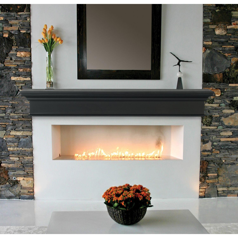 Pearl Mantels The Henry 72 Black Mantel Shelf Black Fireplace Mantels Pearl Mantel