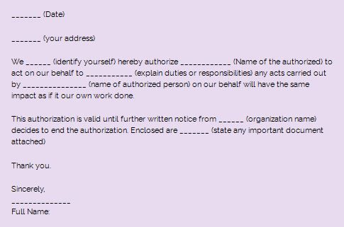 Sample Authorization letter and how to write one Kenyayote Pinterest - new sample letter for cancellation of admission