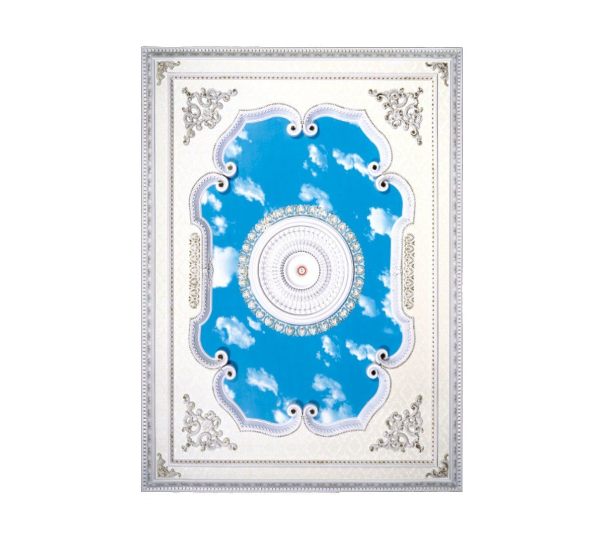 Rectangle Ceiling Medallion Rectangle W 022