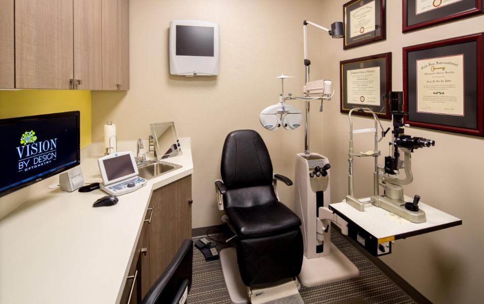 Optometrist Eye Exam Room At Vision By Design In Edmonton