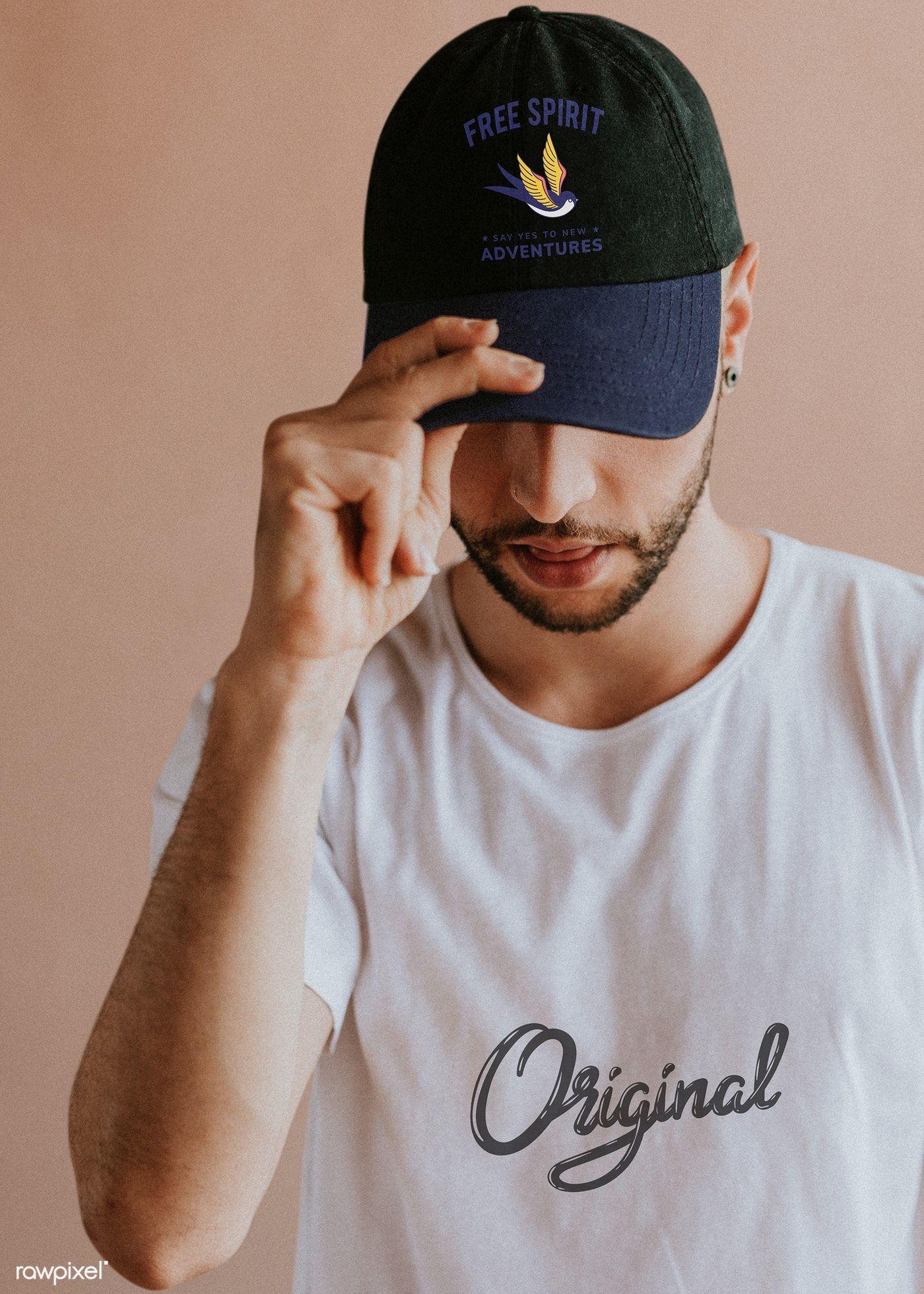 Download Man With A Black Cap Mockup Premium Image By Rawpixel Com Felix Black Cap Cap Design Mockup Free
