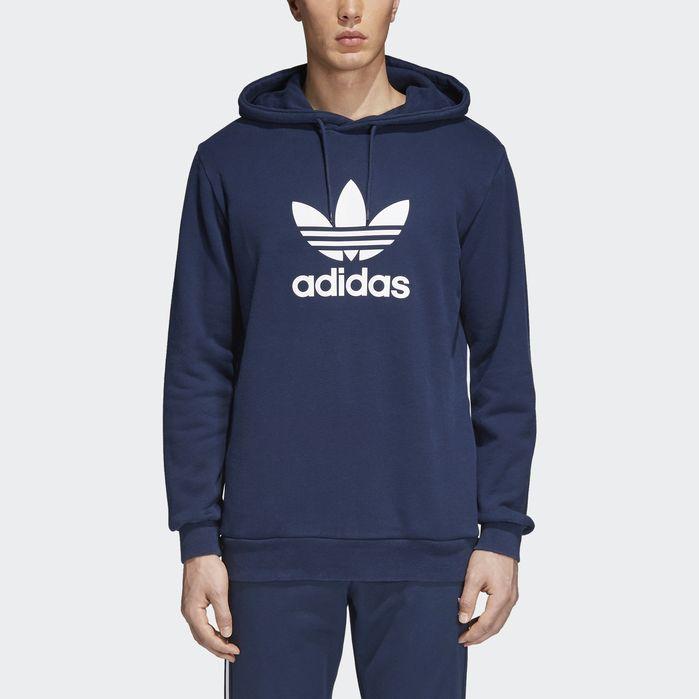 Trefoil Hoodie Navy Blue XL Mens | Hoodies, Mens sweatshirts