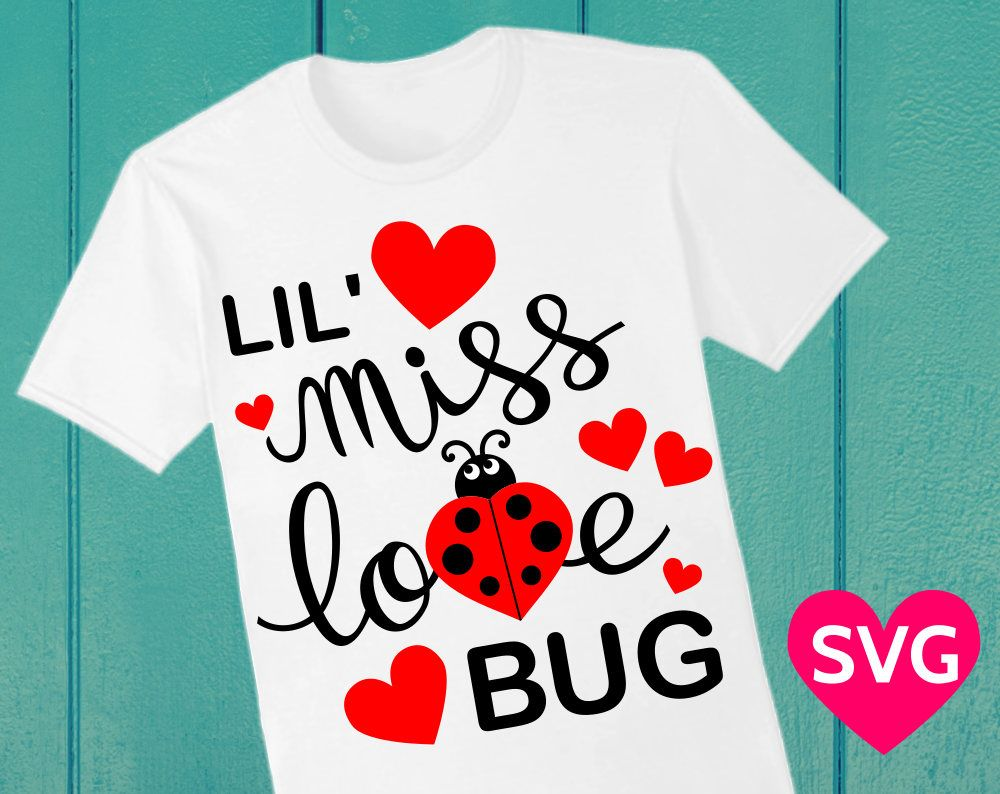 Valentine Little Miss Love Bug Svg File For Cricut Silhouette And Printable Clipart Valentine Svg Valentine Svg Files Valentines Svg Svg
