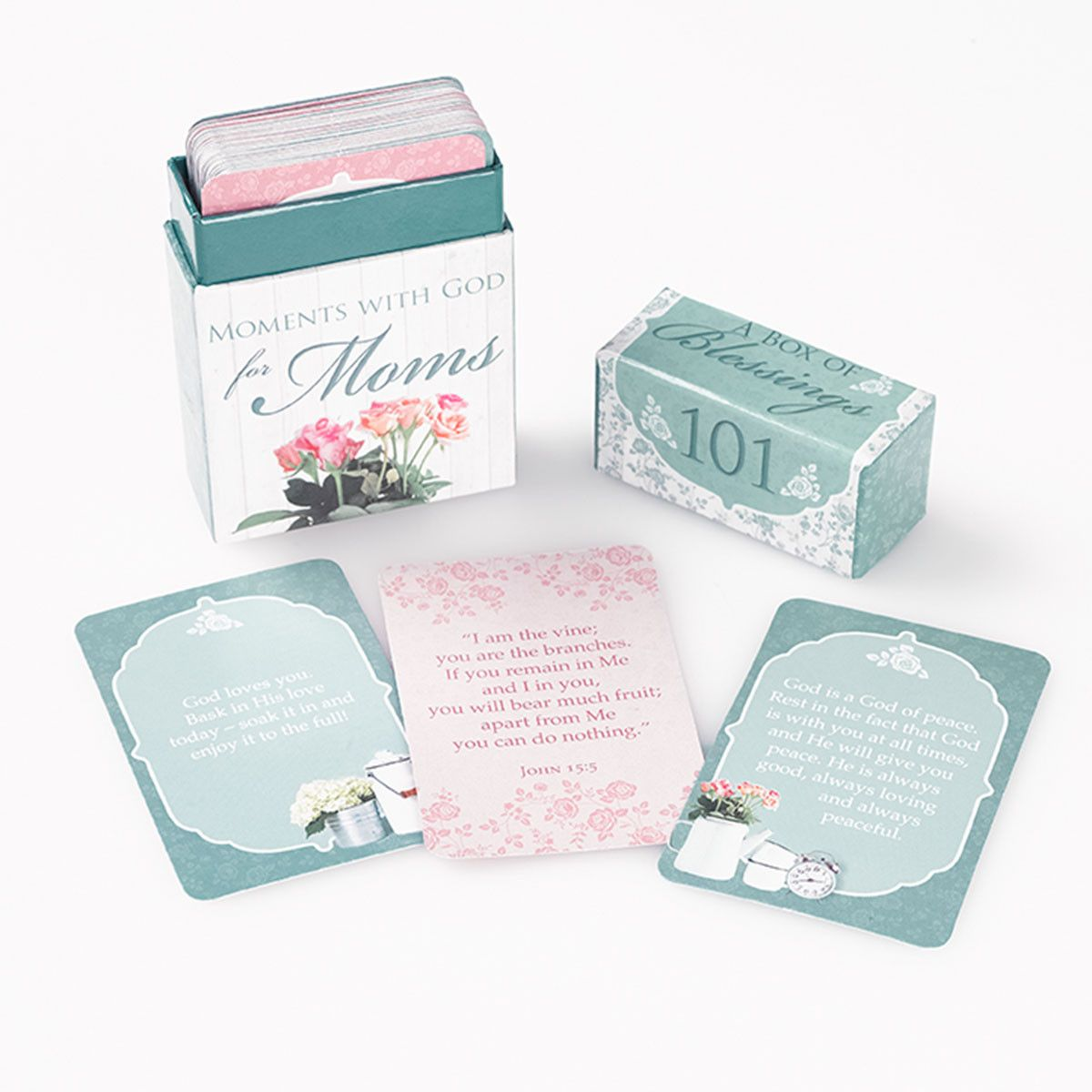 101 Moments with God for Moms - Box of Blessings | Christian Art Gifts - Mother's Day  Gift