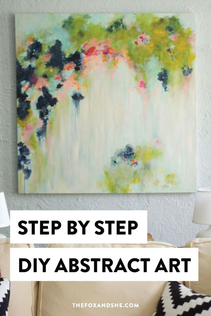 Looking for DIY abstract art that's colorful and made with acrylics?Learn how to create DIY home decor that's gives life to your space with step by step instructions and a list of everything you need. At the very least, you'll get some abstract art inspiration. Click through for all the details on DIY abstract painting. #diyhomedecor #abstractart
