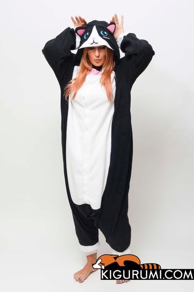 db36e4f3add3 Black Cat Kigurumi Onesie