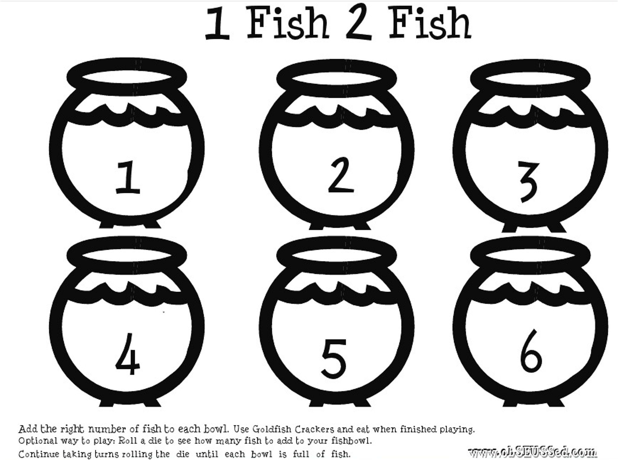 One Fish Printable Obseussed In