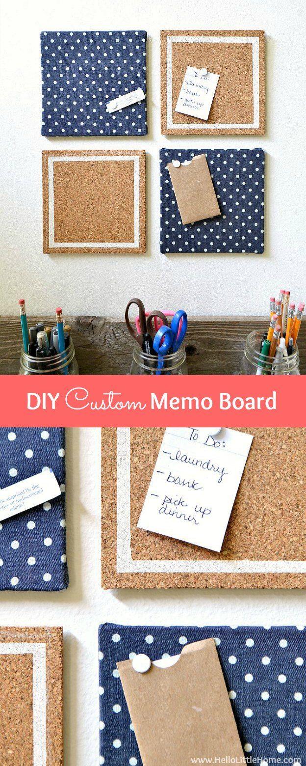 Make Your Own Memo Board Dorm Diy Diy Bulletin Board Memo Board