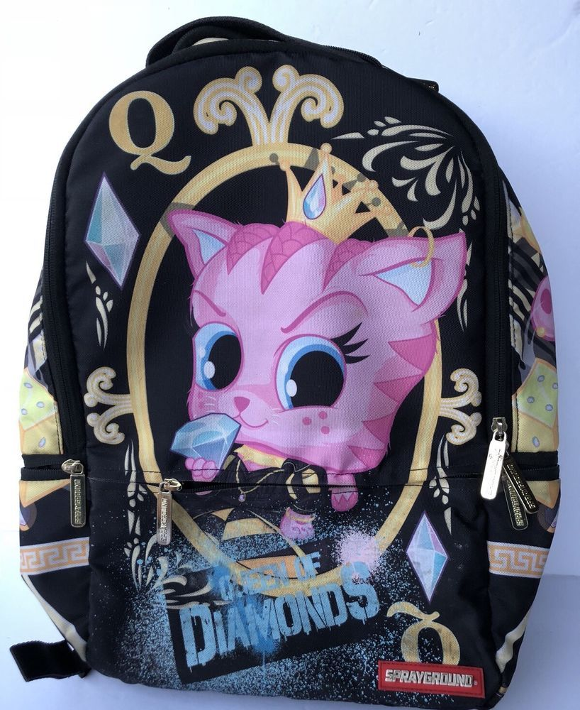 Sprayground Queen Of Diamonds Laptop Backpack Sprayground Backpack School  813985021232  d41922574fb