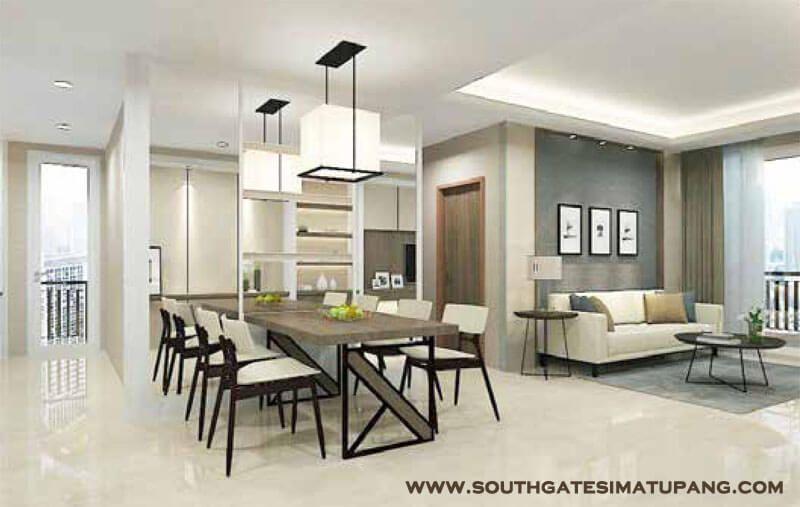 Contoh Design Interior Apartemen Southgate Jakarta
