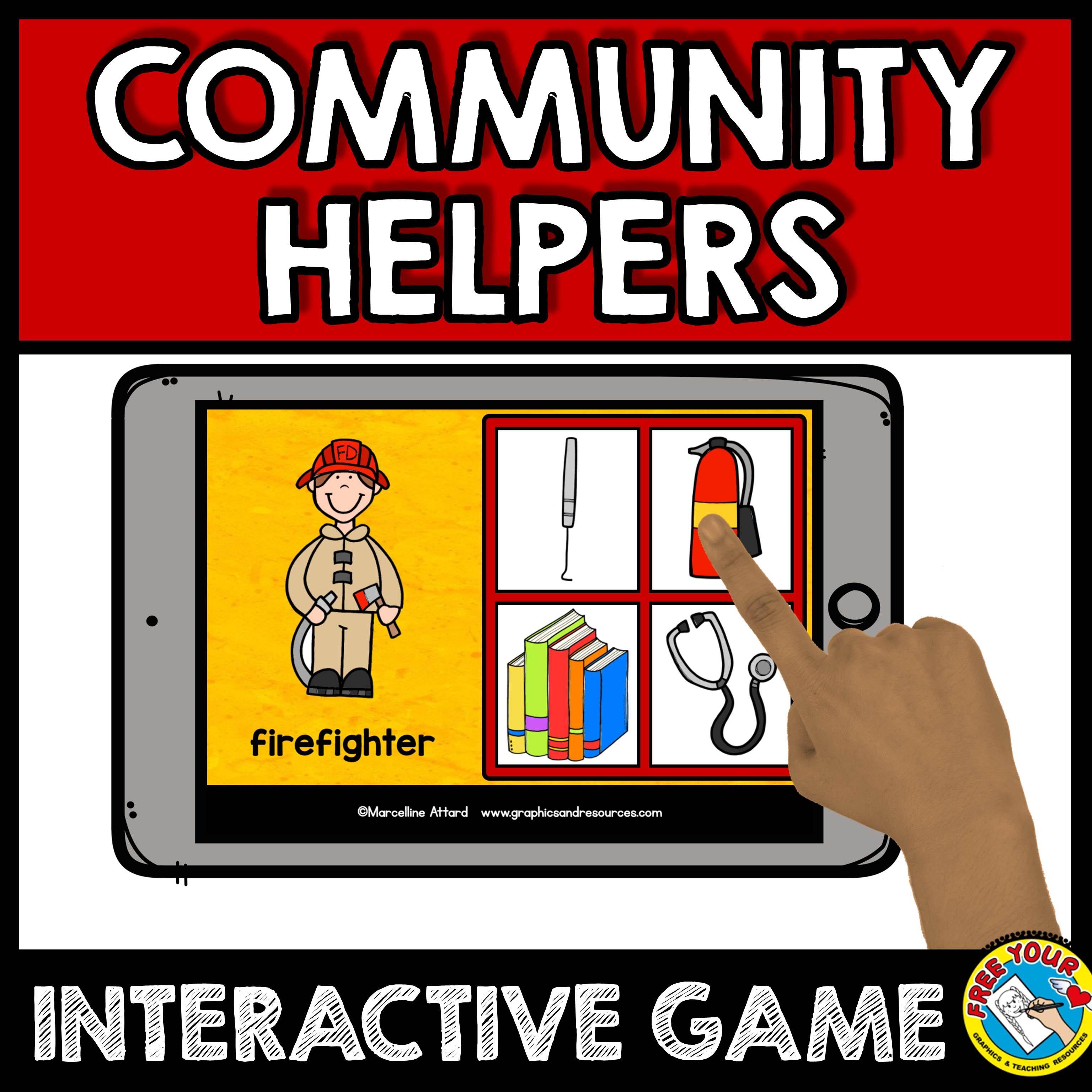 community helpers preschool game community helpers sort or