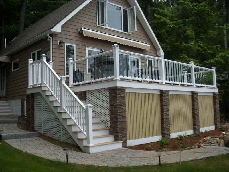 The Right Steps On Building Deck Stair Railing With Front Page - Building deck stairs railing