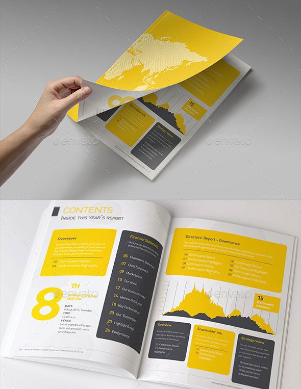 40 Best Corporate InDesign Annual Report Templates | Annual reports ...