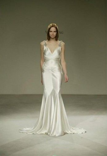 Vera Wang Style 11255 Old Hollywood Wedding Galliano Wedding Dress Used Wedding Dresses