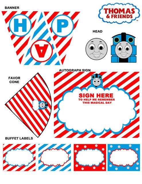 Thomas The Train Party Printables Set Por WeddingSupplyStore 1200