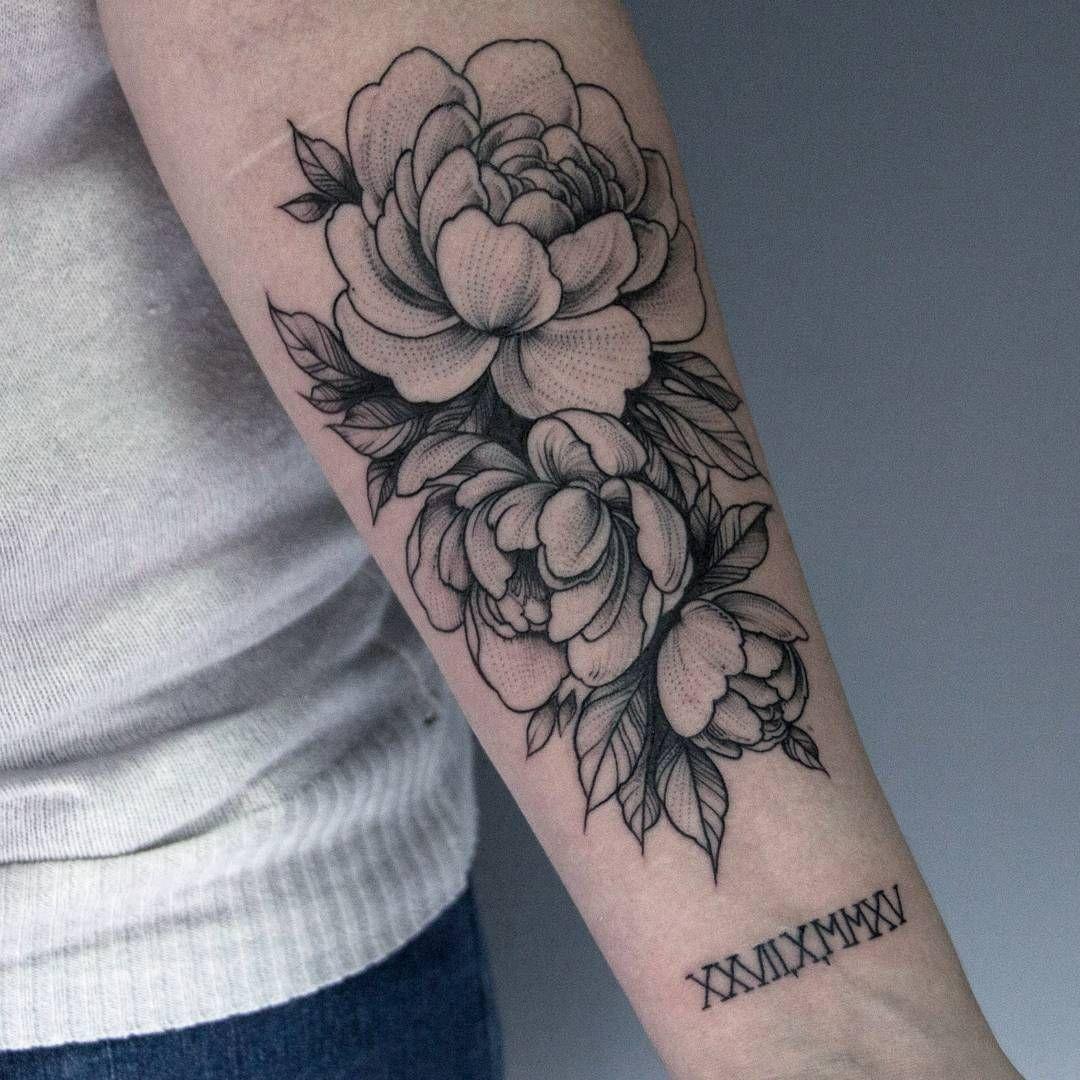 Forearm Tattoos For Women Flowers