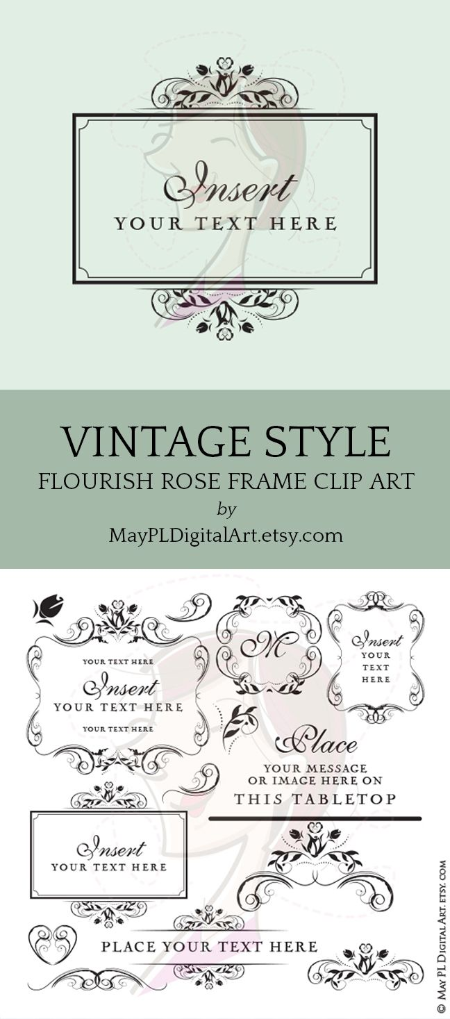 Business or wedding signage clipart beautiful flower frame business or wedding signage clipart beautiful flower frame flourish vector files perfect as logo sign invitations commercial use 10600 wedding stopboris Image collections