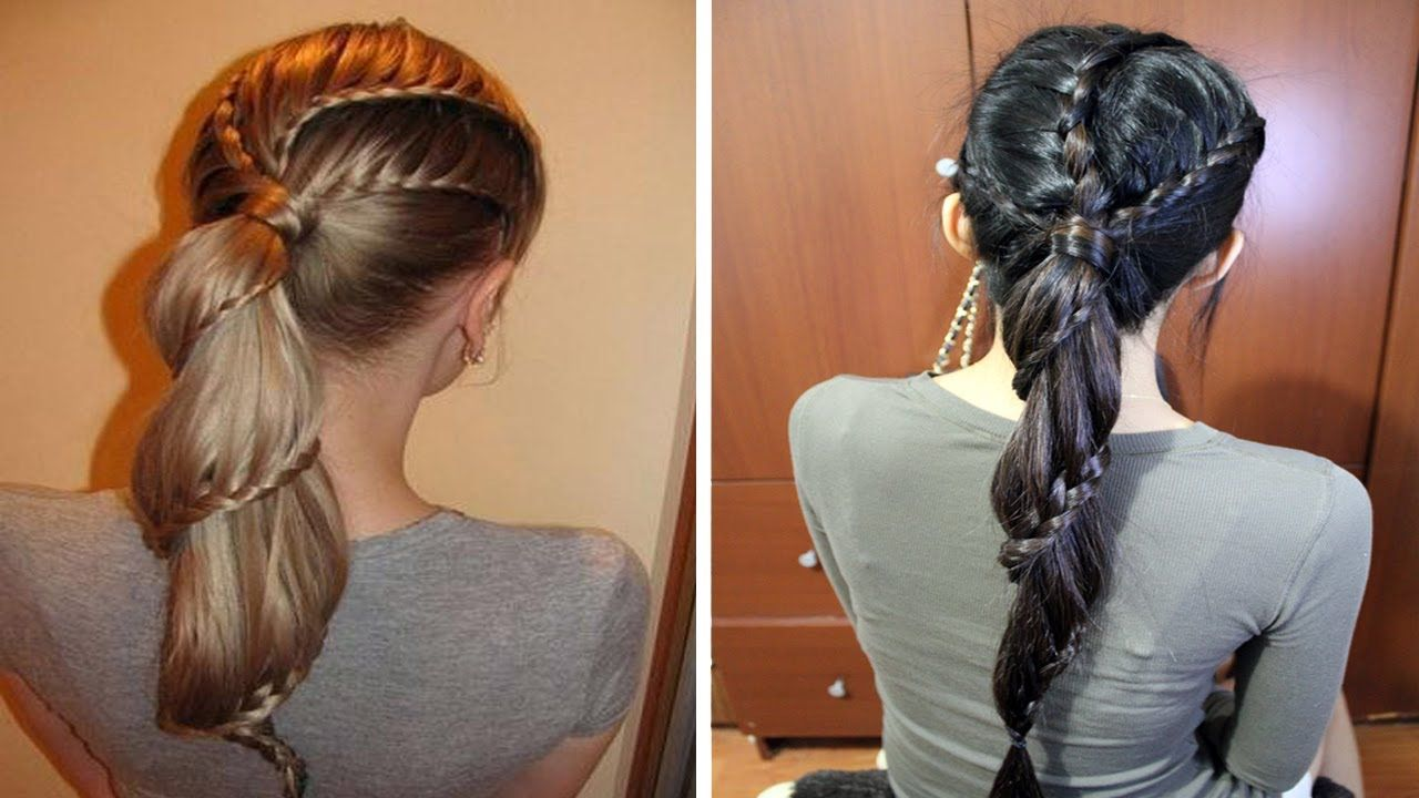 Spiral Carousel Lace Braid Ponytail Hairstyle Hair